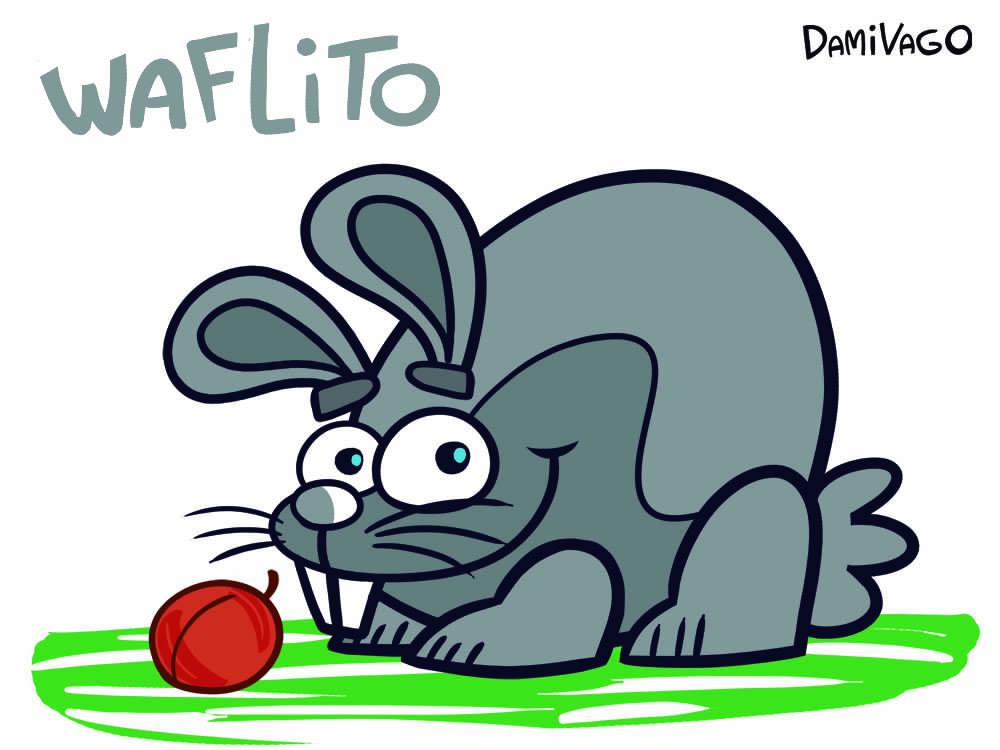 Diseño de Personajes: Conejo Waflito 1