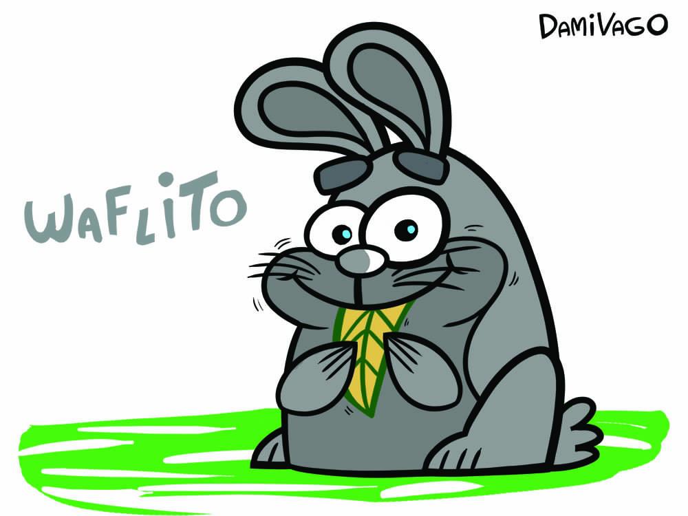 Diseño de Personajes: Conejo Waflito 2