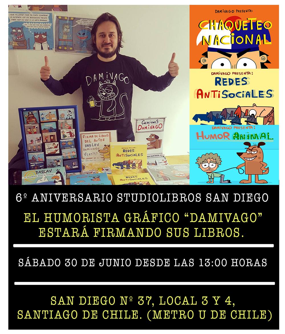 Firma de Libro Damivago en STUDIOLIBROS San Diego