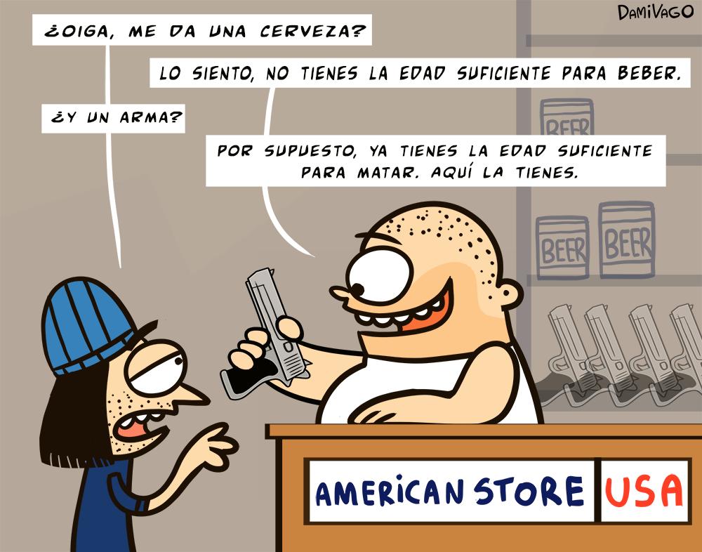 Viñeta: Acceso a Armas USA