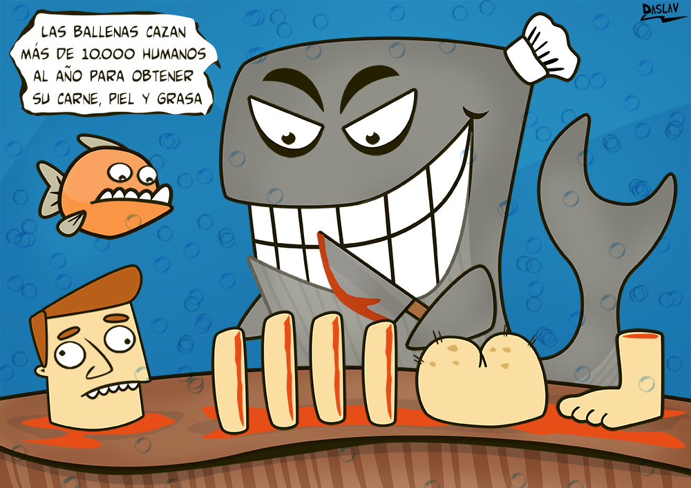 Damivago Nº 307:  Caza de Ballenas (Mundo al revés)