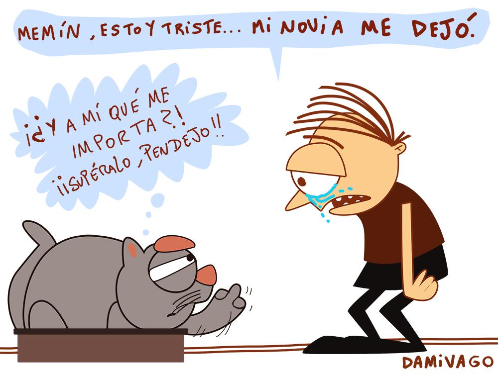 Damivago Nº 667: Amigo Gatuno (Versión Gatuna de Viñeta Amigo Perruno)