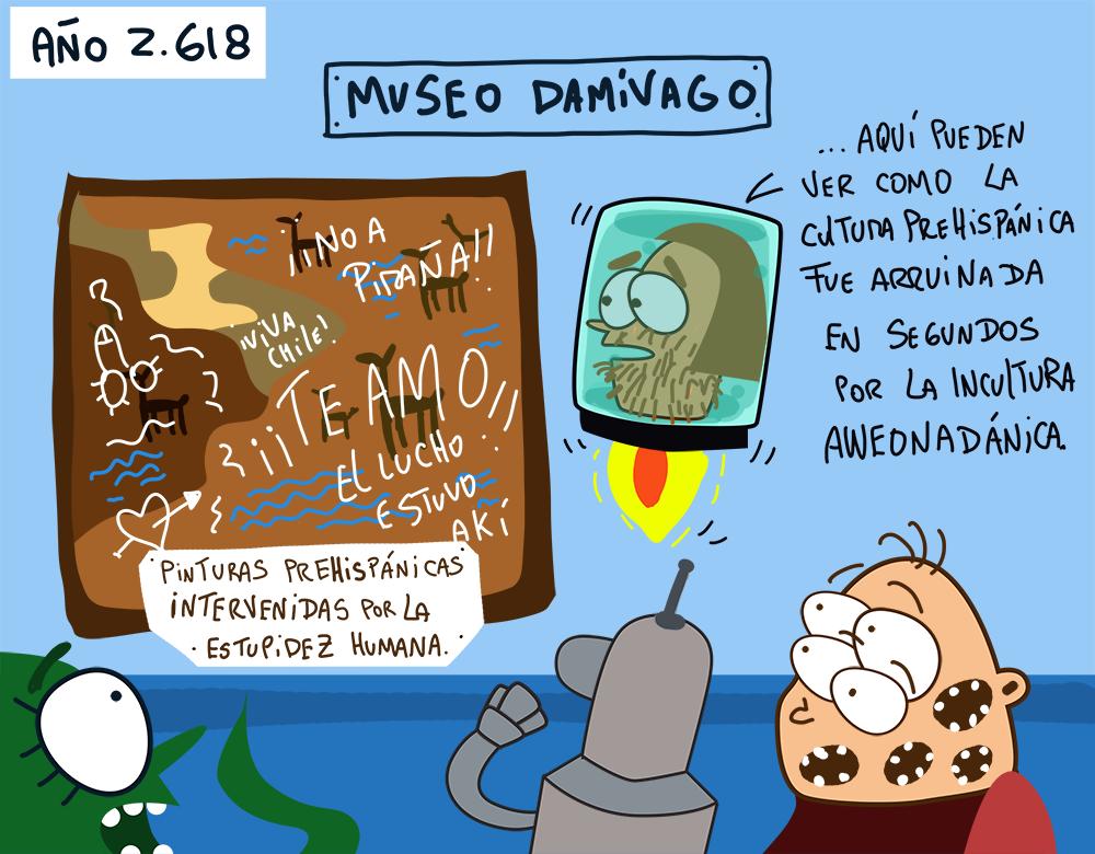 Damivago Nº 766: Caso de Pinturas Rayadas Arica