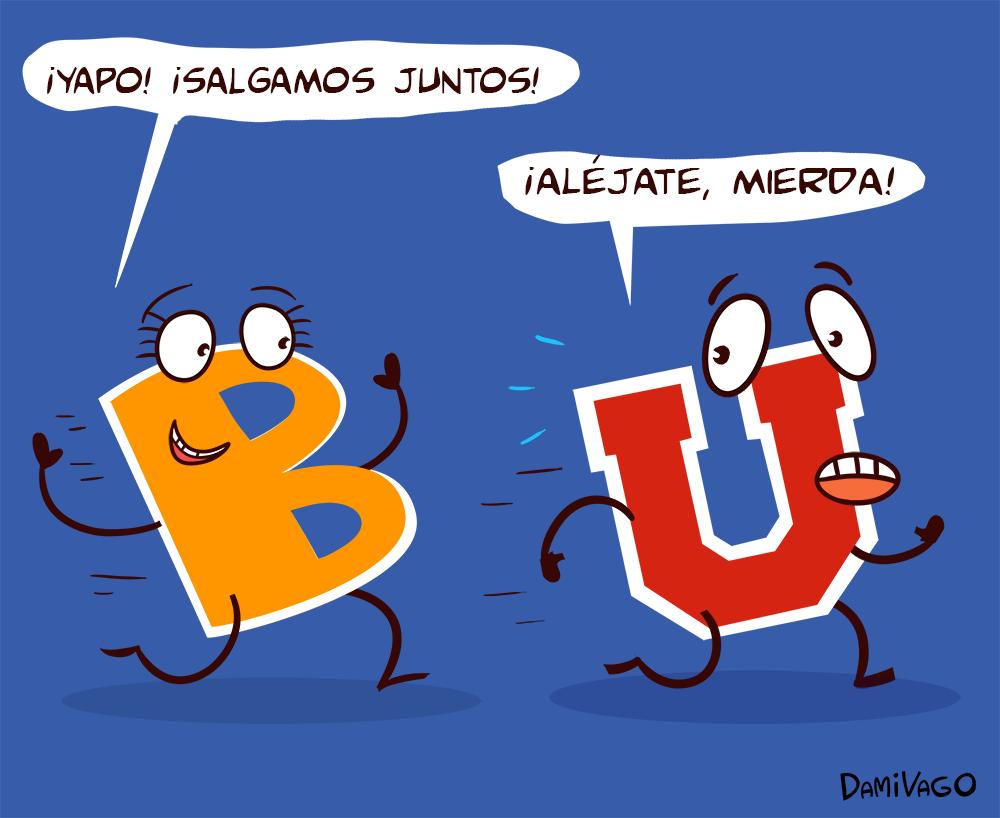 Viñeta deportiva: La U y la B.