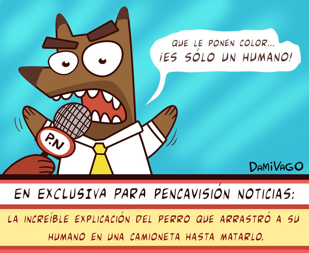 Viñeta: Es sólo un humano (Mundo al revés)