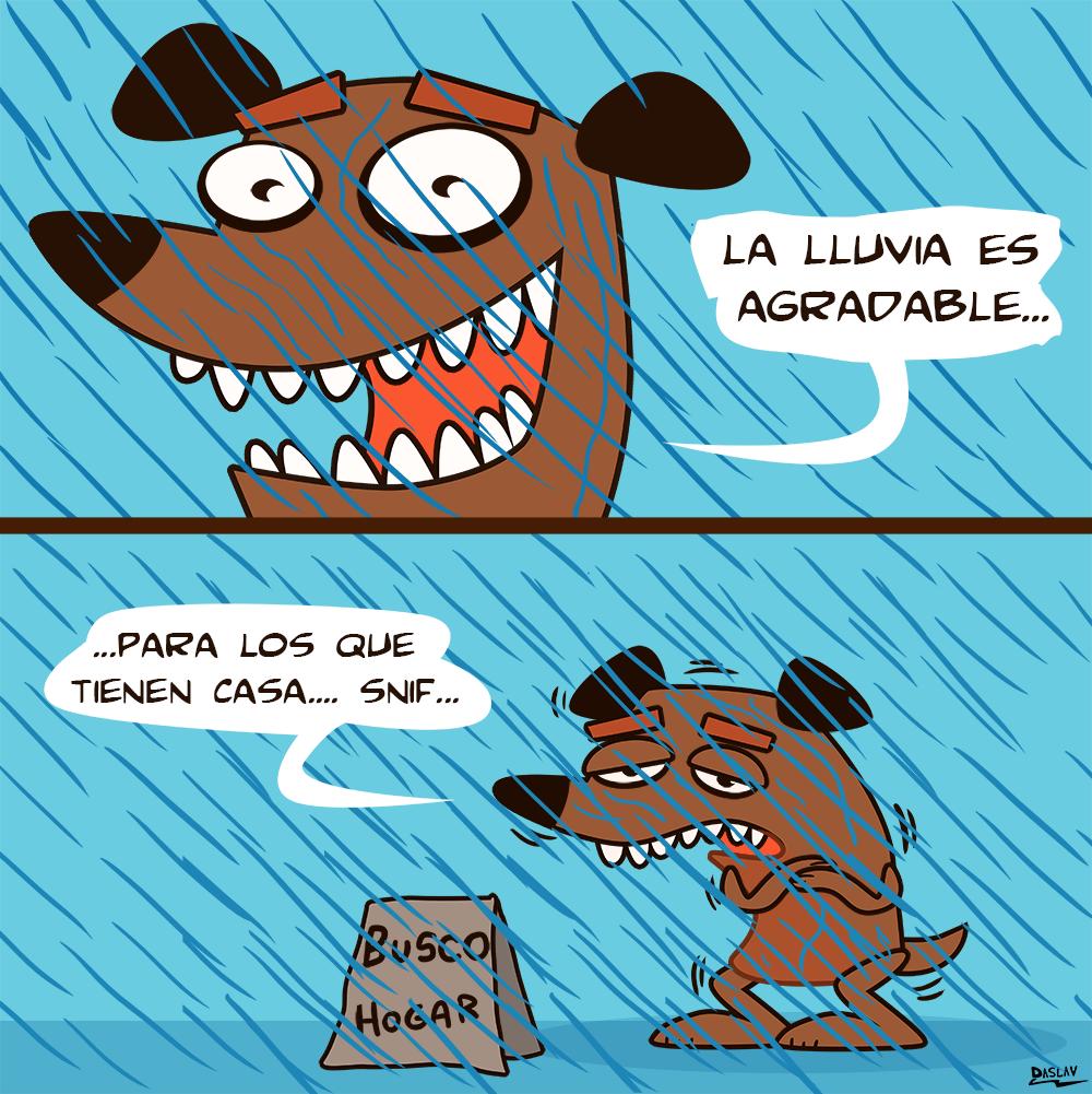 Nueva Viñeta: La Lluvia es agradable...