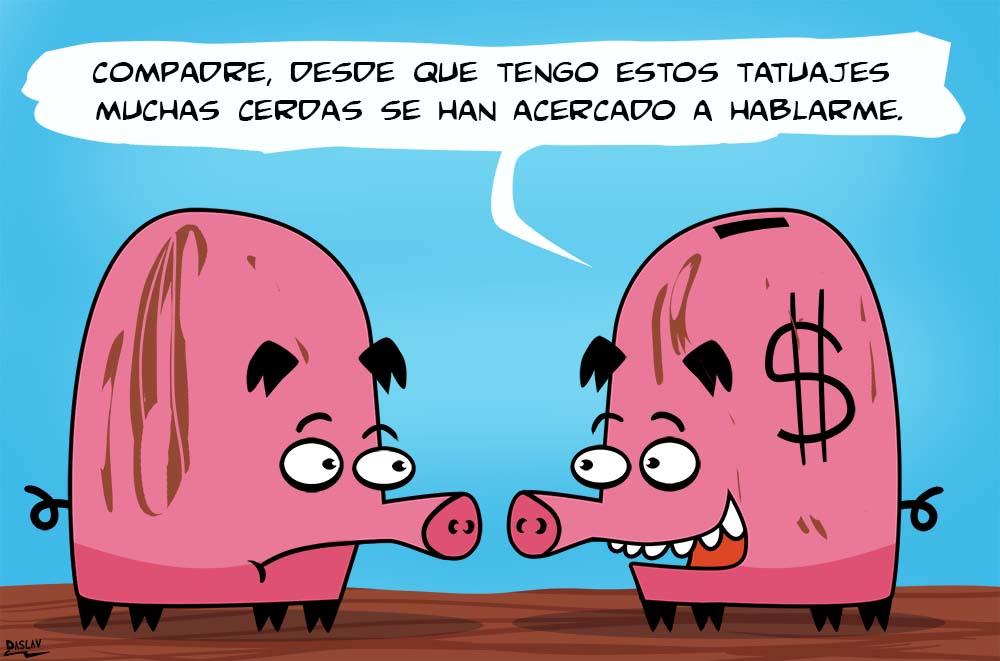 Nueva Viñeta: Mundo de Cerdos:Tatuajes