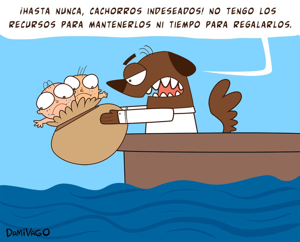 Damivago Nº 428: Abandono de Cachorros (Mundo al revés)