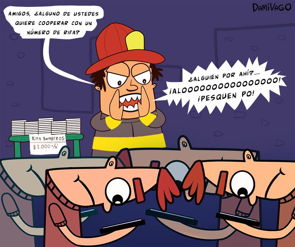Damivago Nº 418: Rifa Bomberos