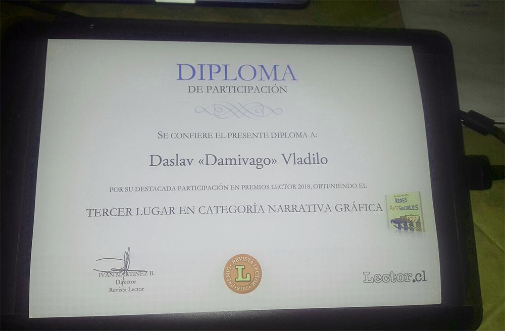 Diploma PREMIOS LECTOR 2018