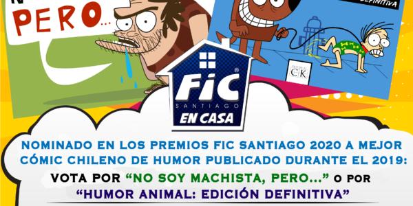 Nominado a Mejor cómic de humor en los Premios FIC Santiago 2020